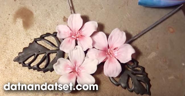 hoa đất sét dạy học làm hoa đất nhật tphcm