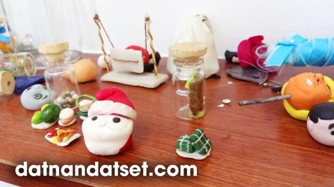 nặn đất sét nhật thài làm đồ chơi mô hình miniature tphcm