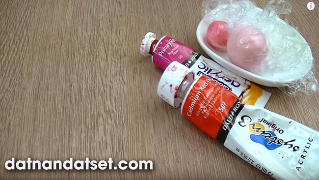 pha màu sơn dầu acrylic cho đất sét nhật a